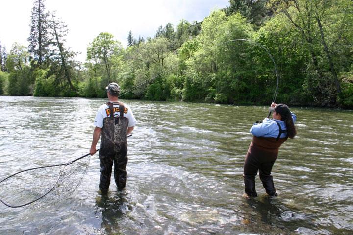 Ловля речного лосося (2)